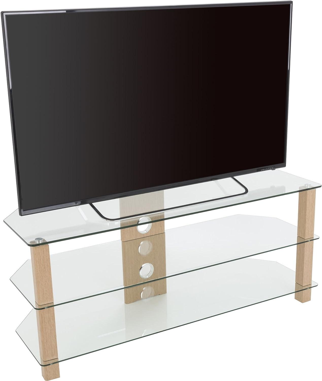 AVF WG Series - Soporte de Cristal para televisores de hasta 60 Pulgadas (Roble y Transparente): Amazon.es: Electrónica