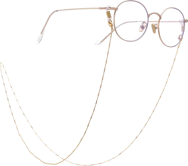 LIKGRAN Cadenas de gafas de sol con cuentas para mujer 3 colores