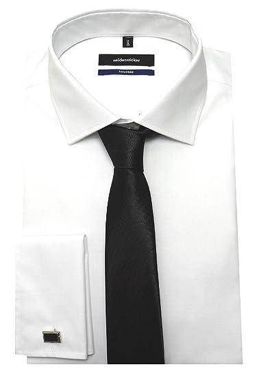 Seidensticker Puños Camisa Rosa Negra Ajustado 2020 blanco ...