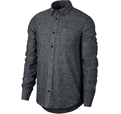 18e209628 Nike Men's SB Flex Button Up Top (large) at Amazon Men's Clothing store: