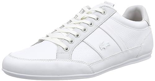 22adea32c Lacoste Men s Chaymon PRM Fashion Sneaker White Gry 8 M US  Amazon ...