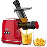 Juicer Machines, ORFELD Cold Press Juicer with 95% Juice Yield & Purest Juice, Easy Cleaning & Quiet Motor Masticating Juicer