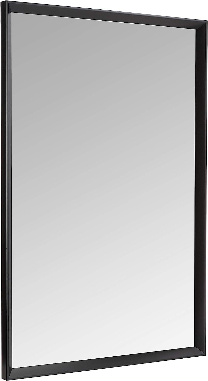 "AmazonBasics Rectangular Wall Mirror 24"" x 36"" - Peaked Trim, Black"