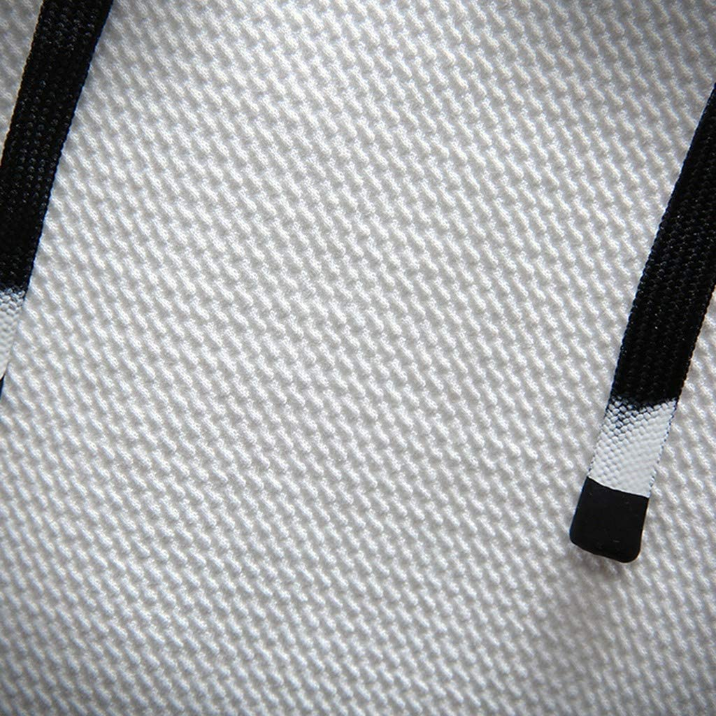 Unisex Men Hooded Sweatshirt Long Sleeve Hip Hop Splice Pullover Outwear Sports Shirts