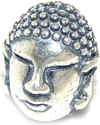 Solid 925 Sterling Silver Buddha Statue Charm Bead 386 for European Snake Chain Bracelets