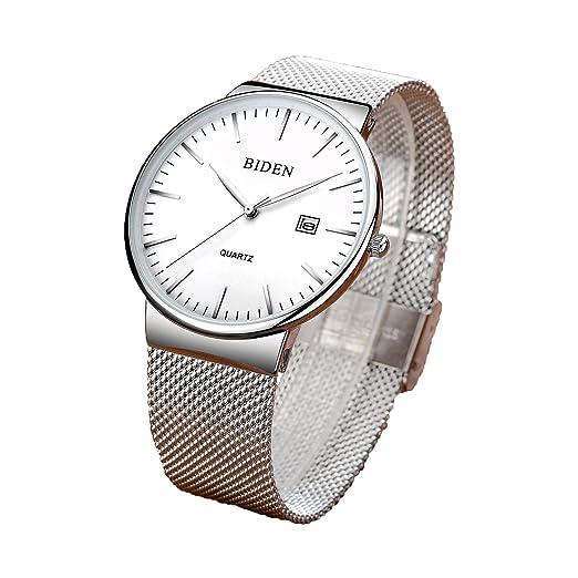 Relojes minimalistas de moda para hombre de lujo reloj de pulsera para hombre ultra delgado para ...