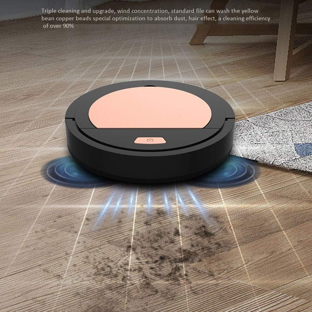Nettoyage 7.4Cm Intelligent Robot Sol, 1200Mah / 1800Pa Automatiquesmachines Aspirateur, Trois-en-Un Robot De Nettoyage,Blanc Black