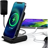 Poplartrees Fast Wireless Charger 4 in1, Charging Station with 18W PD Quick Charge USB-C Port,Compatible with iPhone…