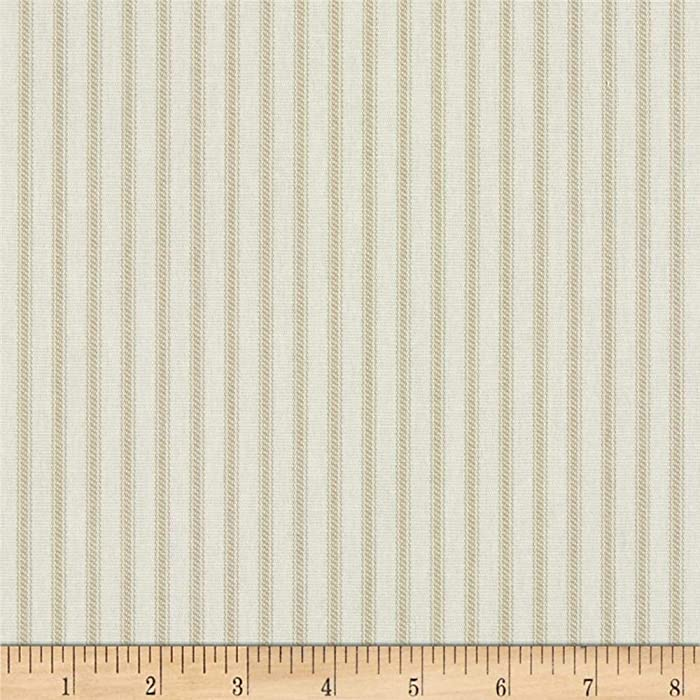 Magnolia Home Fashions 0421906 Berling Ticking Stripe Sand Fabric by the Yard