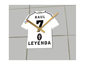 the latest db20f d4158 FanPlastic RAUL 7 FOOTBALL SHIRT CLOCK - CF REAL MADRID ...