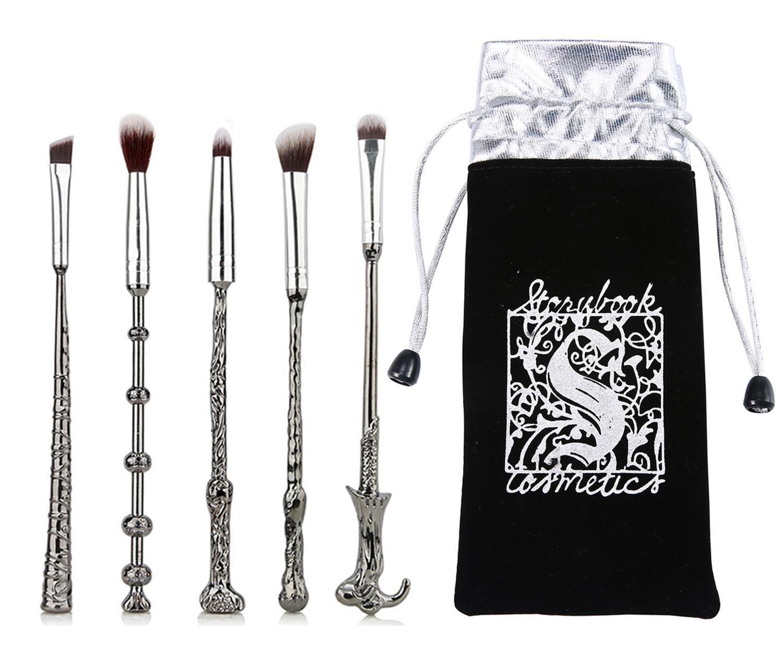 Lot de 6sorciers et sorcellerie Pinceaux de maquillage, Tidodo Harry Potter Magic Wizardwand Lot de brosse de maquillage fard à paupières sourcils Nez Estompeur Kabuki Make Up Brosse