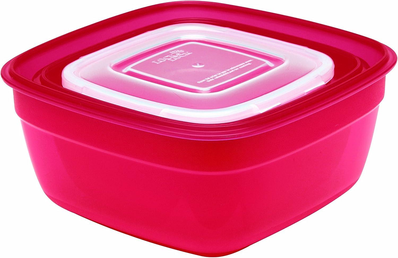 Rosso Lock /& Lock Color Promotion HSM8450PSR3 Set 3 scatole Multiuso Colore