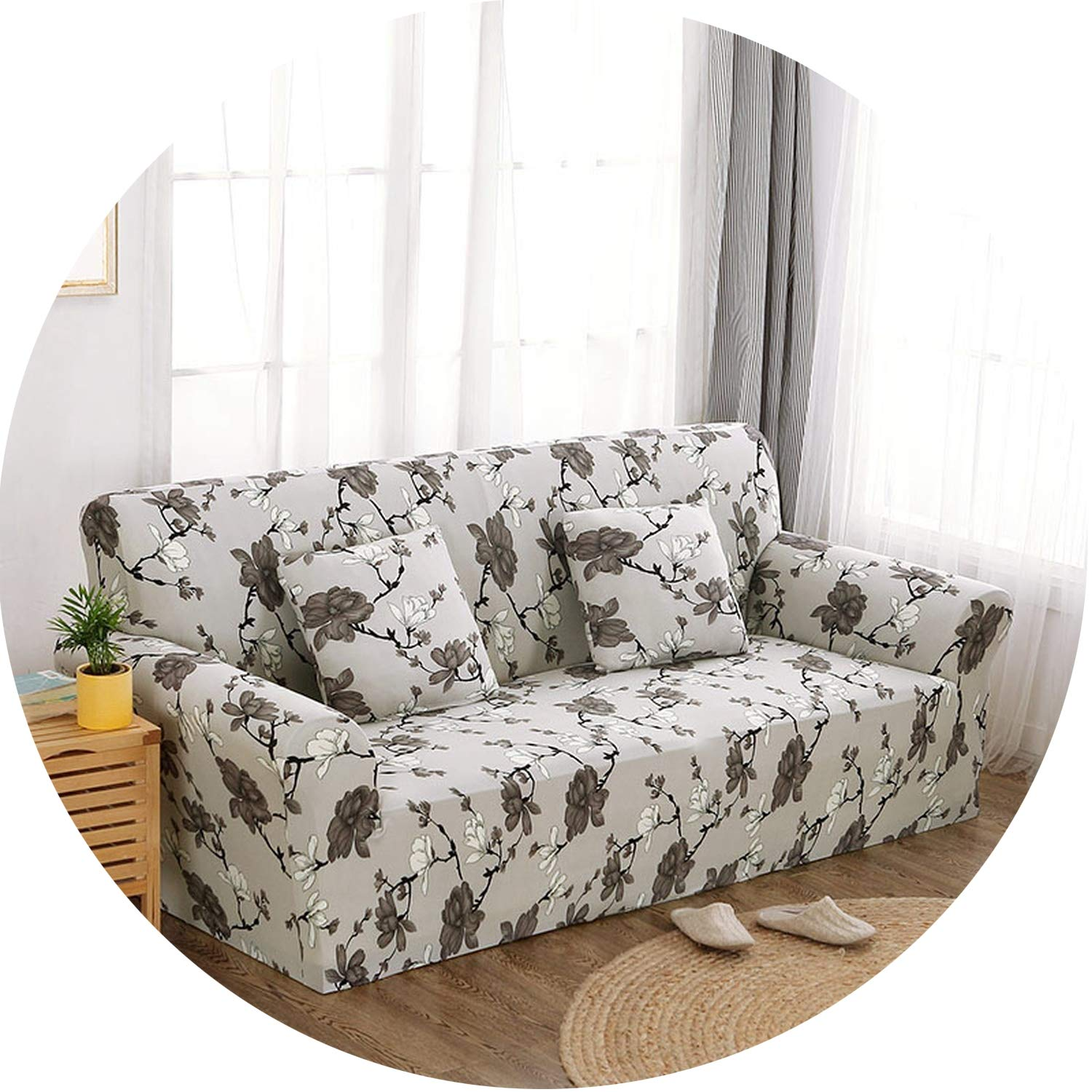 Floral Sofa Cover Slipcovers Elastic Stretch Tight Wrap Sofa Couch Cover,Color 20,3-Seater 190-230Cm