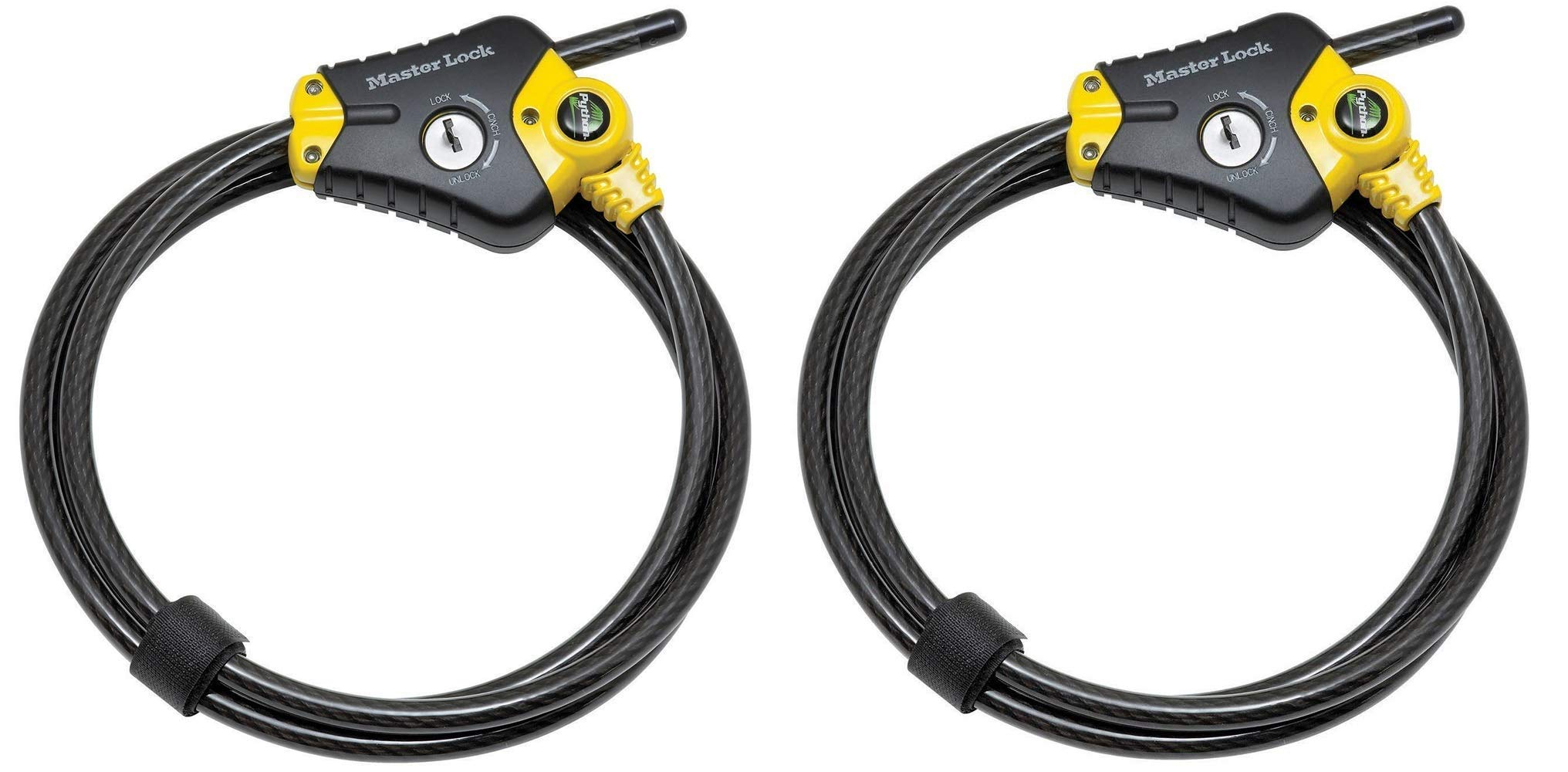 Master Lock Cable Lock, Python Adjustable Keyed Cable Lock, 6 ft. Long, 8413DPF (Pack of 2) by Master Lock