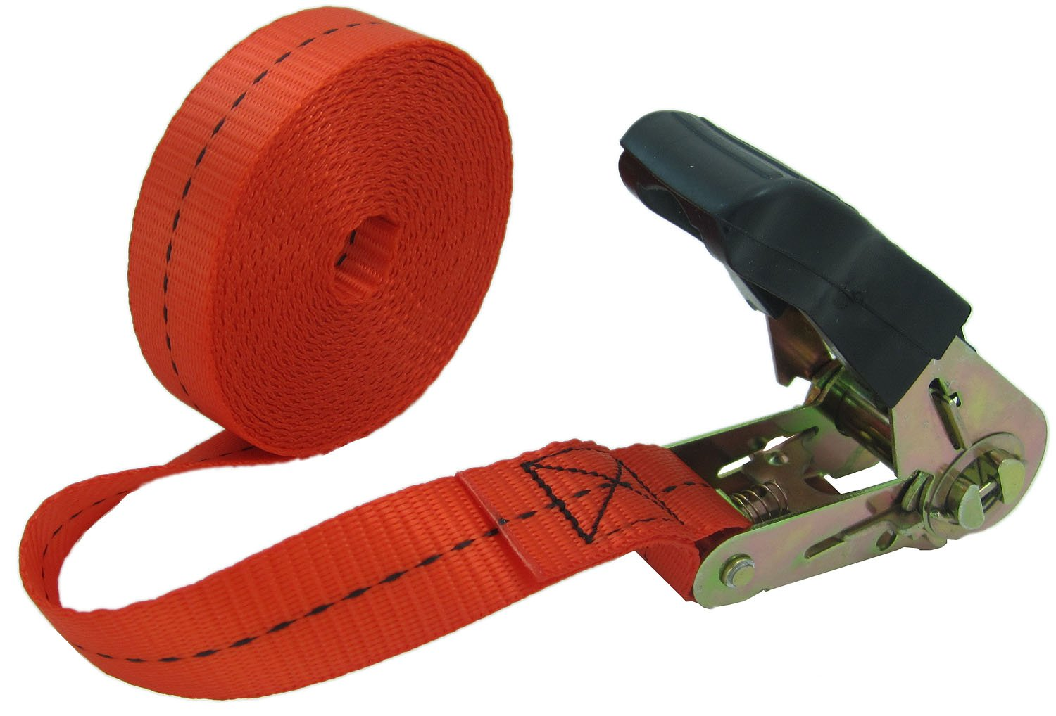 WINGONEER Endless Loop Ratchet Tie-Down Standard Duty Ratchet Endless No Hooks/Lashing, 1,700 lbs.196inch - Red