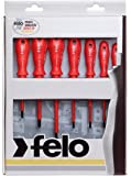 Felo 0715751401 Set of 7 Insulated Phillips & Slotted Screwdrivers, 613 Series