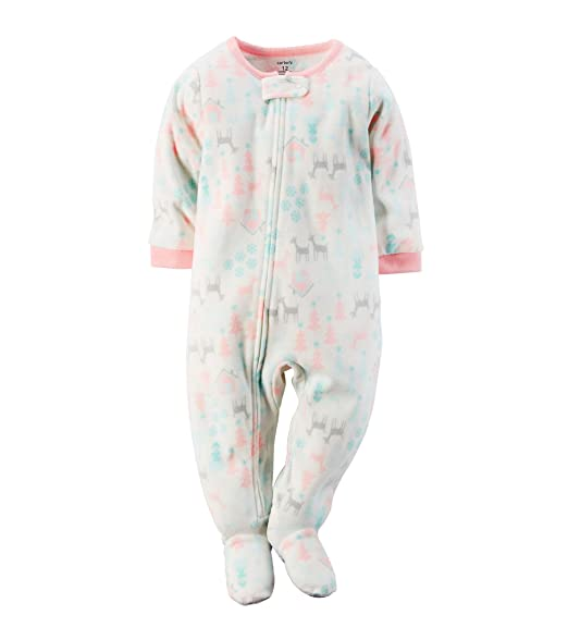 Image Unavailable. Image not available for. Color  Carter s Little Girls  Footed Fleece ... 2bb2bf535