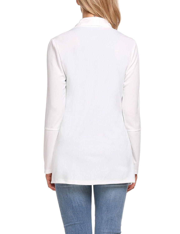 03fba4ec95d2e2 Unibelle Damen Blazer Cardigan Dünn 3/4 Längere Elegant Leicht Bolero Jacke  Blazer Slim Fit Anzug ...