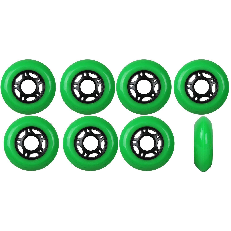 Player's Choice Outdoor Inline Skate Wheels Asphalt Formula 80MM 89a Green x8