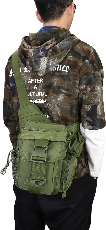 S-ZONE Poli/¨/¦ster 600D Molle del Hombro t/¨/¢ctico de la Correa Bolso Militar Empuje la Correa del Paquete de la Bolsa de Viaje Mochila