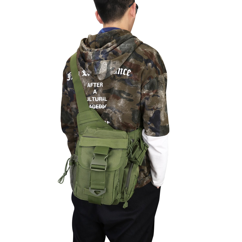 G4Free Tactical Messenger Bag EDC Sling Pack Fishing Tackle Bag One Shoulder Bag Multi-Functional Utility Pouch Versipack Outdoor Bumbag