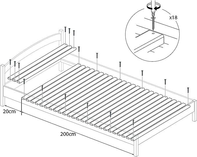 Somier Enrollable para La Cama Individual 120x220 cm – 300 Kg ...