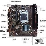 H61 Motherboard(Socket LGA1155,Chipset INTEL H61, DDR3, 2 Dimms 16GB, Micro ATX) - Black