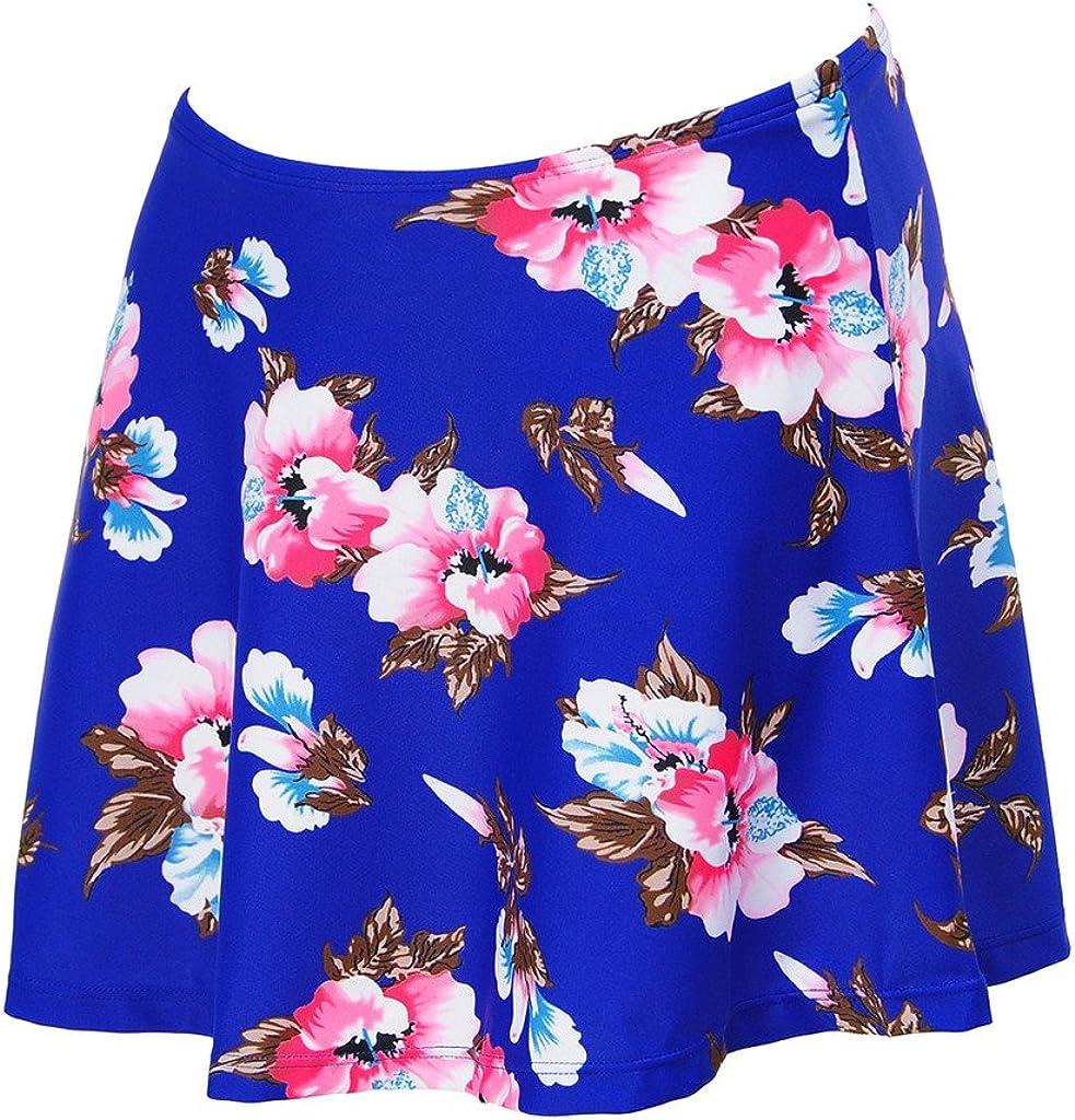 Papaya wear Uniarmoire Womens Skirted Bikini Swim Bottom Floral Printed Swimdress