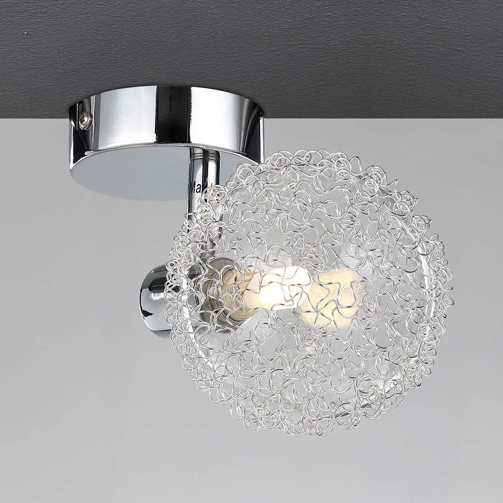 Monzana Ceiling Lamp Light Fitting Spotlight Swiveling Angle Adjustable Spots Including LED Bulbs
