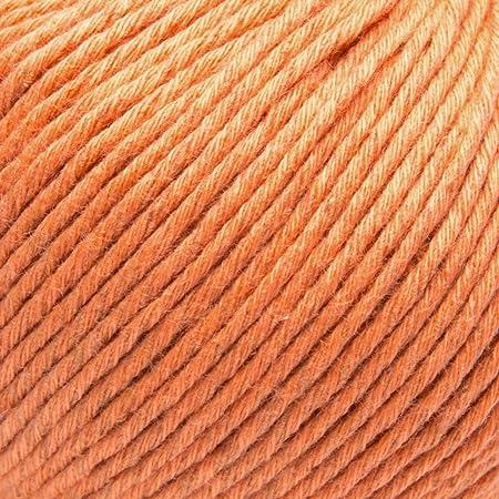 ggh Linova - 072 - Mandarín - Algodón con lino para tejer y hacer ganchillo: Amazon.es: Hogar