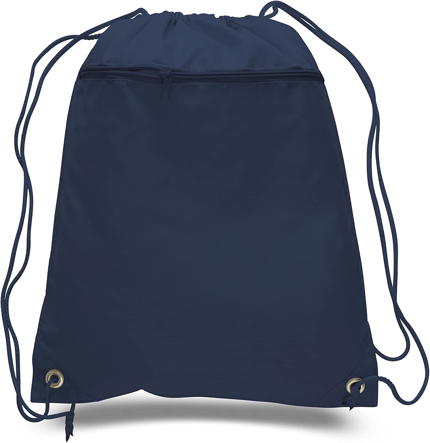 12 PACK - Promotional Well Made Polyester Drawstring Bags