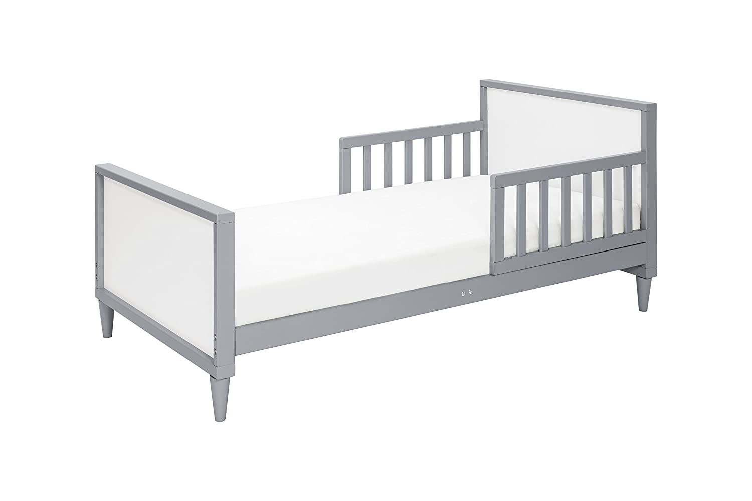Babyletto Ziggy Toddler Bed, Grey/White on sumeer homes, samantha homes, bella homes, minnie homes, katie homes, victoria homes, rocky homes,