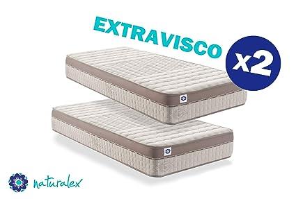 naturalex – Extravisco – Materasso Singolo 80x190 cm Memory e Lattice con  Schiuma ad Alta Densità – Tecnologia Adattamento di Forma e Ultra ...