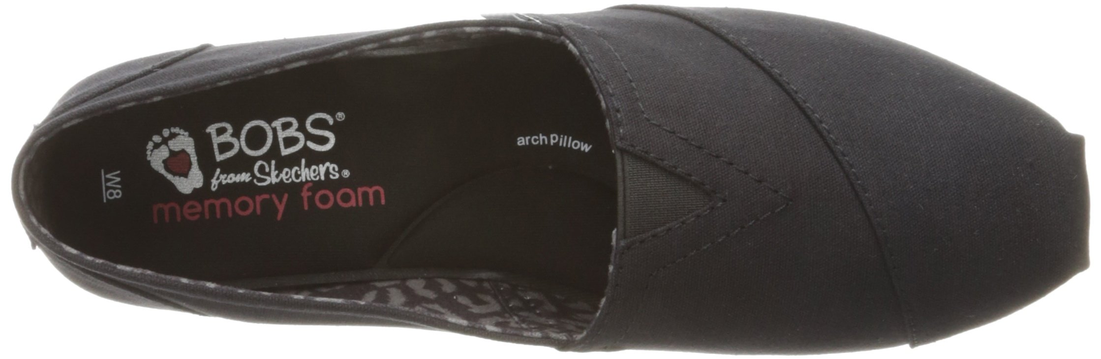 Skechers BOBS from Women's Plush - Peace and Love Flat, Black, 9.5 W US by Skechers (Image #8)
