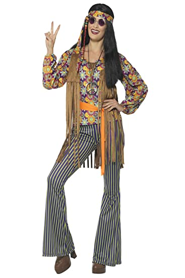 Hippie Costumes, Hippie Outfits Smiffys Womens 60s Singer Costume Female with Top Waistcoat $29.15 AT vintagedancer.com