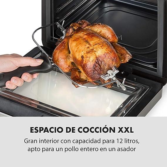 Klarstein AeroVital Cube - Freidora de aire caliente, Freidora, 1600 W, 12 litros, Programable, 13 programas y 3 funciones, Pantalla digital, Carcasa resistente al calor, Bajo consumo, Negro: Amazon.es: Hogar