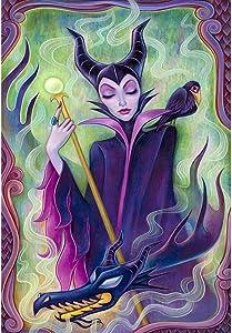 5D Maleficent Diamond Painting Large Size, Dark Fantasy Diamond Art for Adults and Kids, Full Drill Cross Stitch Arts Craft Canvas, Wall Decor (16X20 Inch)