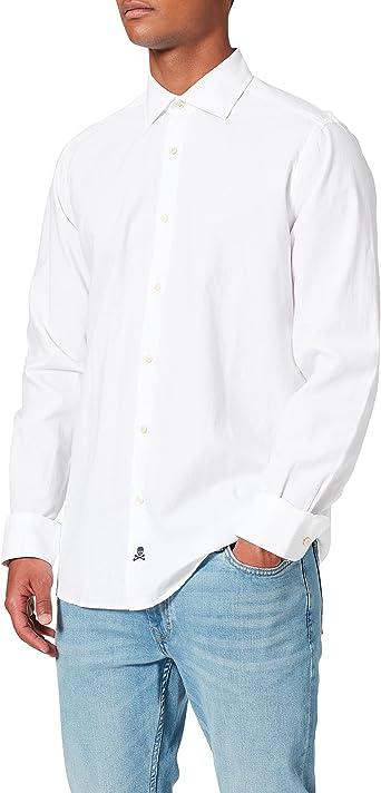 Scalpers Eton K Shirt Camisa Casual, Blanco (White White), XX ...