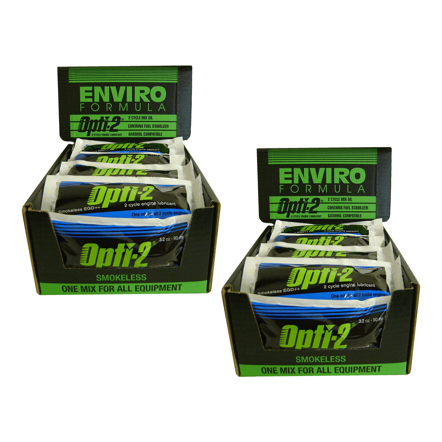 Opti-2 20056 2.5 Gallon Mix Pouches 2-Cycle Engine Lubricant - Case of 56