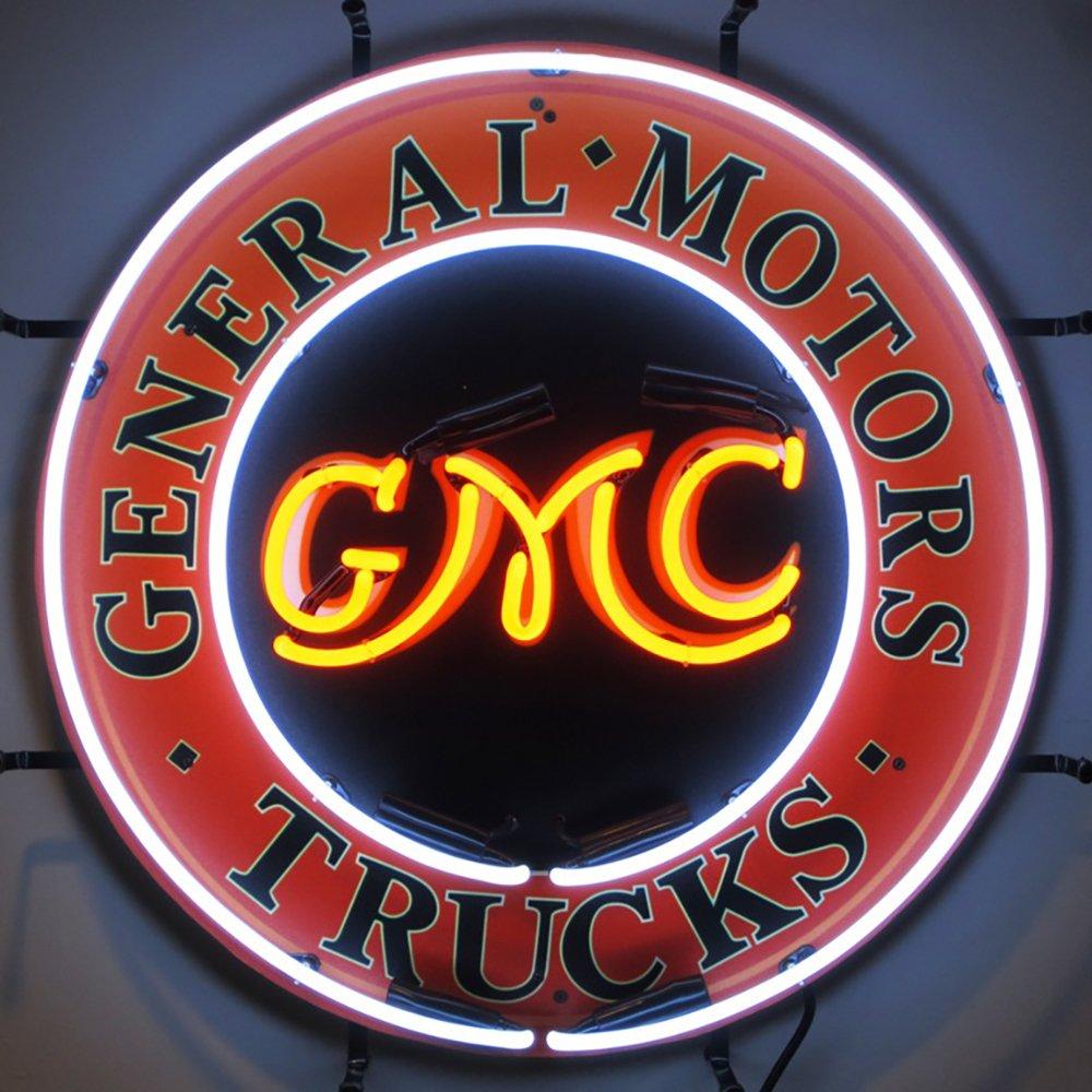 Neonetics 5GMCBK GMC Trucks Neon Sign with Backing