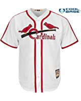Stan Musial St. Louis Cardinals #6 MLB Men's Cool Base Cooperstown Home Jersey (6XL)