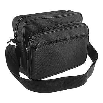 LyaAC Canvas Werkzeugtasche Schultertasche Hardware Kit Dicke Kollektion Taschen Elektriker Tasche Schwarz WJSNB-03