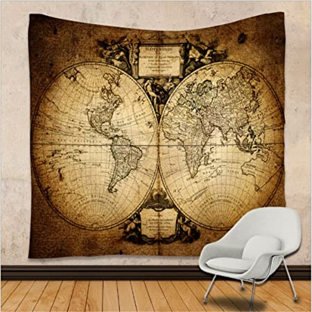 Wszyd wall hanging tapestry world map series wall decoration home wszyd wall hanging tapestry world map series wall decoration home sofa towel table mat beach towel gumiabroncs Images