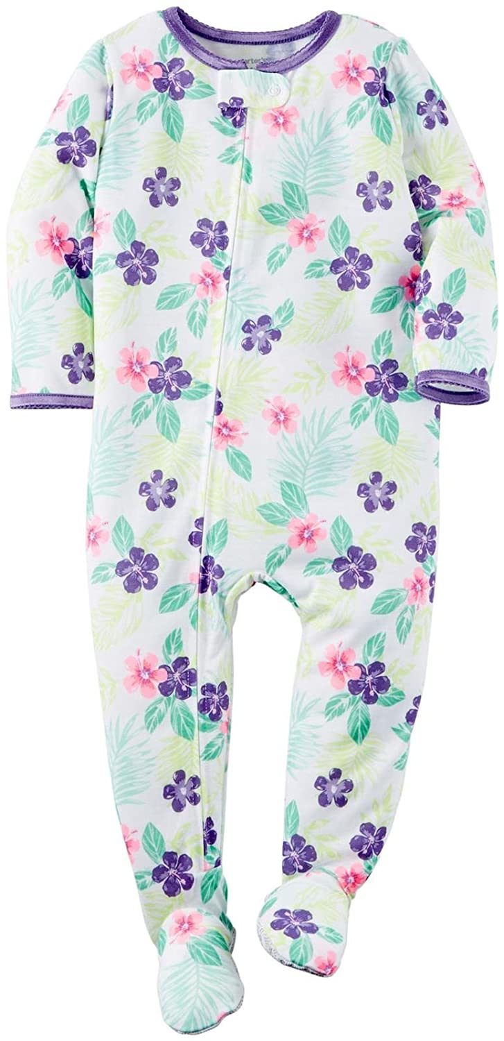 Carter's Baby Girls' Tropical Blossoms Footed Pajamas Carter' s