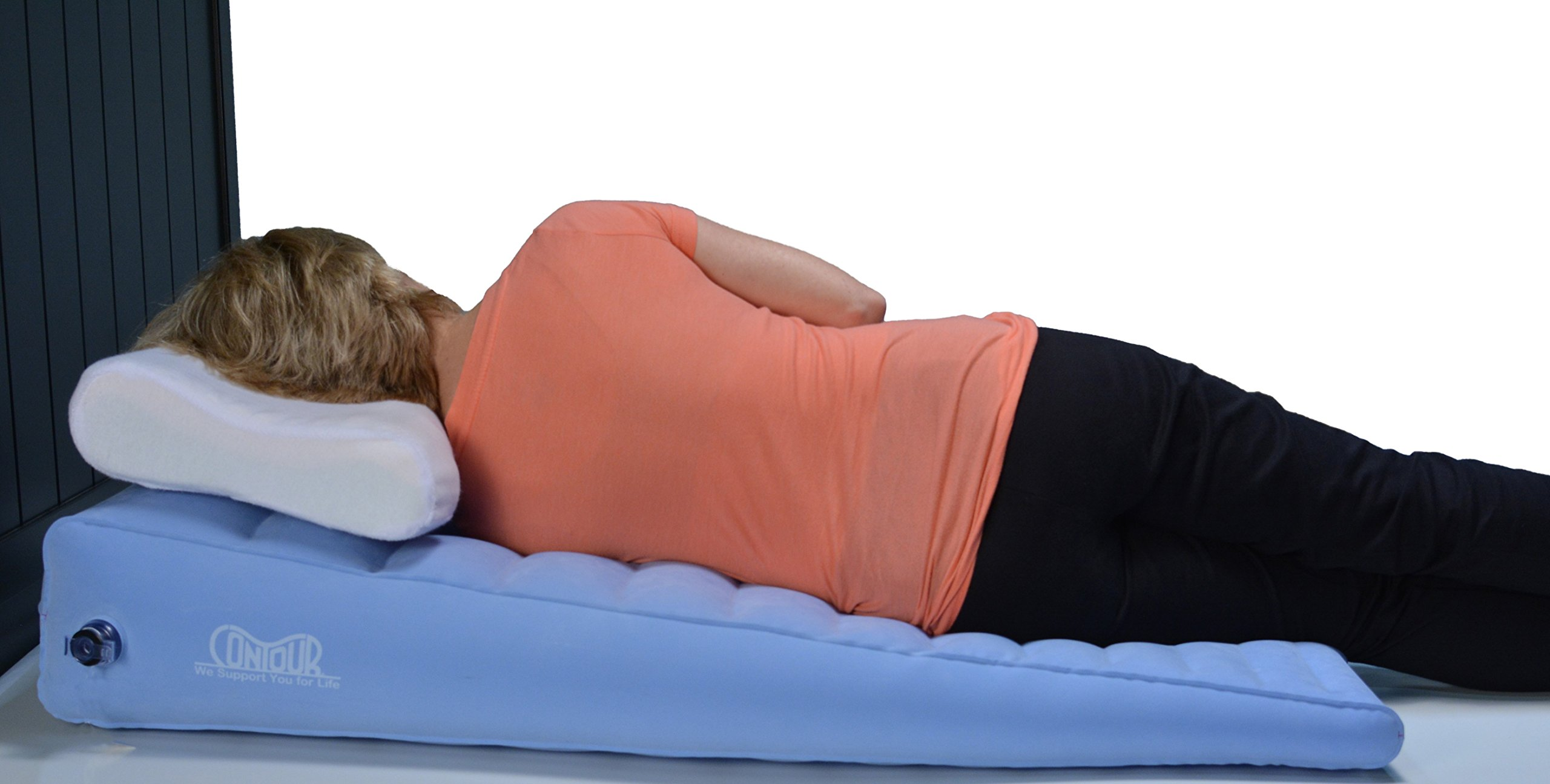 Inflatable Acid Reflux Bed Wedge Pillow By Contour