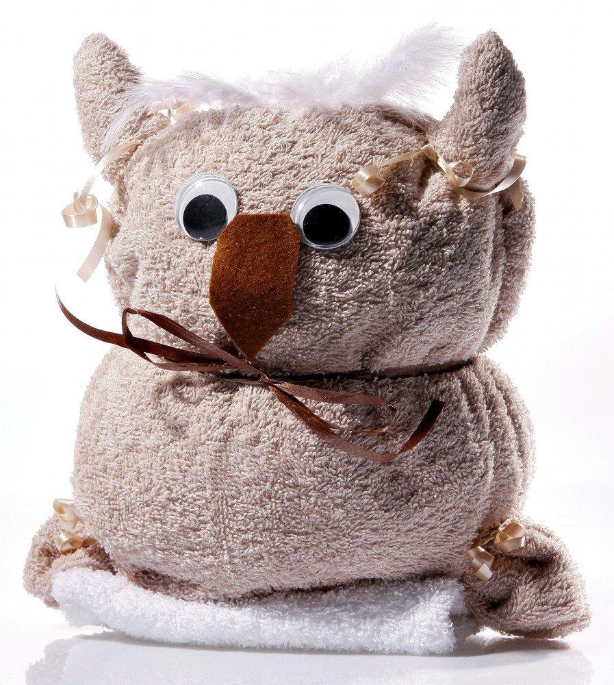 Home Styles, toalla de búho Emma, toalla, manopla de baño, toallas de beige-marrón: Amazon.es: Hogar