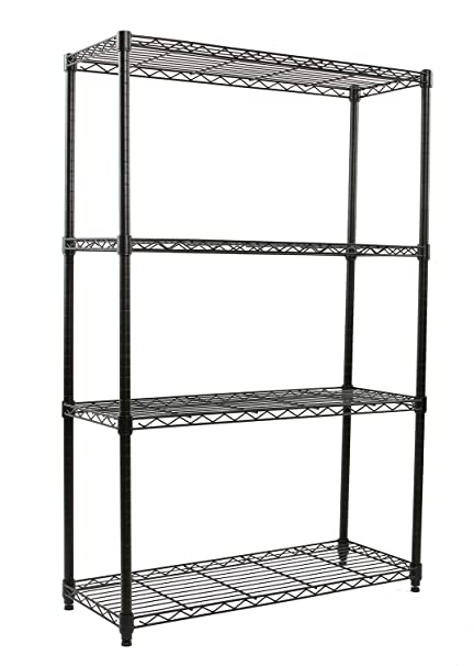 Amazon.com: Finnhomy Heavy Duty 4-Tier Wire Shelving unit Thicken ...