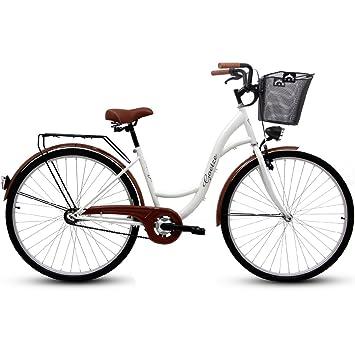 Goetze 28 Zoll Eco Damenfahrrad Citybike Retro Damenrad Pistazie Metallkorb