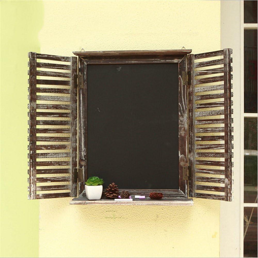 FUXINGXINGAmerican Bar Cafetera Vintage Falso Ventanas Decoración de Pared Tablero de Pared Ancho 39,5 * Alto. 5 cm.: Amazon.es: Hogar