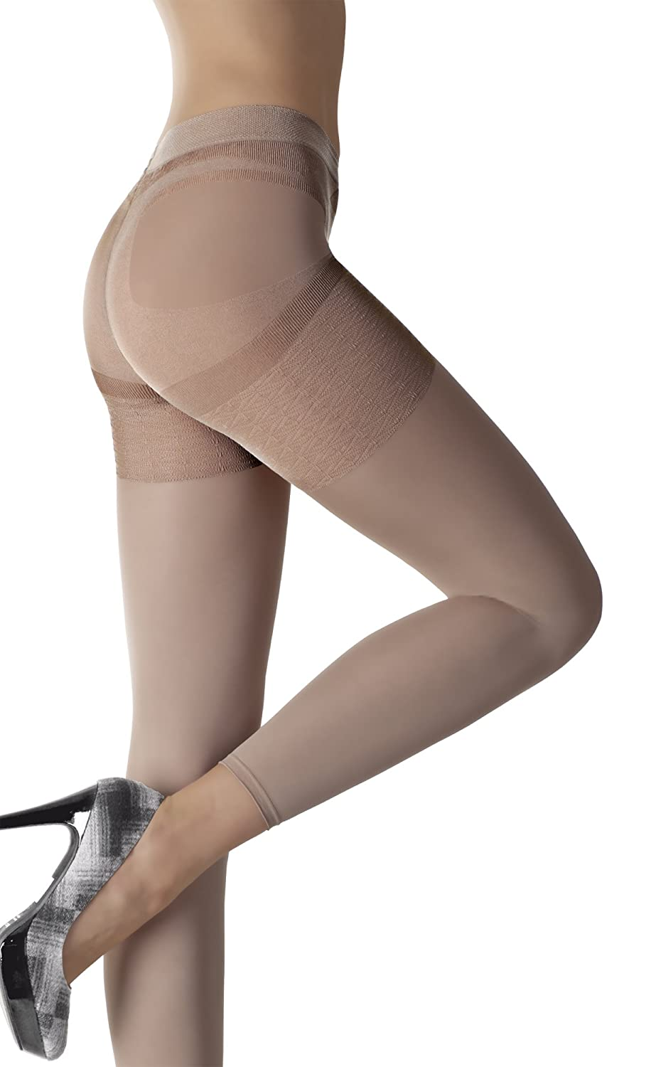 Fiore Luxury 80 Denier Shaping and Slimming Microfibre Leggings - Available in Black, White and Natural White and Natural (Small White)